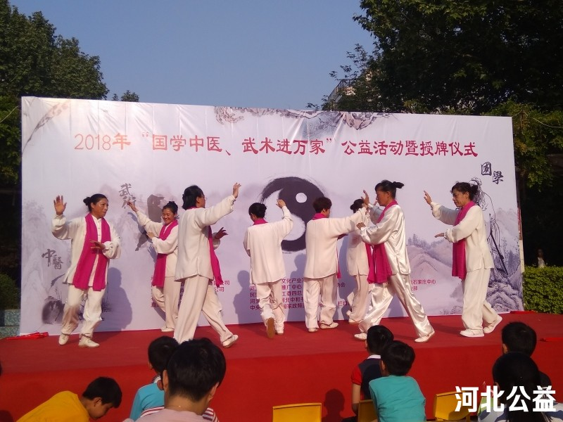 """""""国学中医、武术进万家""""公益巡演在石家庄启动"""